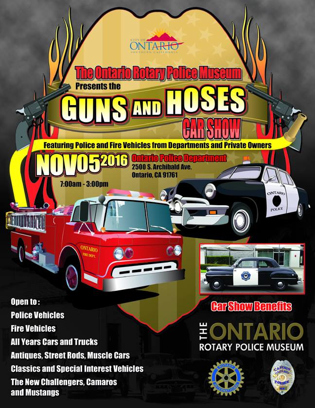 Ontario Arts Culture Ontario Police Museum Guns And Hoses Car - Car show games